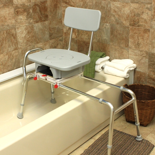 Snap-N-Save Sliding Transfer Bench w/Cut Out Swivel Seat ...